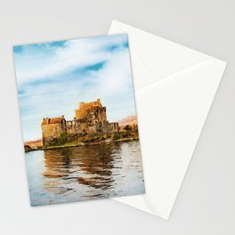 Eilean Donan Castle watercolor painting #1 Stationery Cards