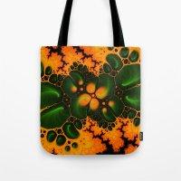 fractal Tote Bags featuring Fractal  by Karl-Heinz Lüpke