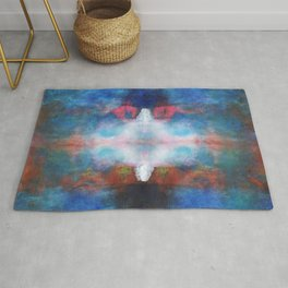 The white light | Abstract painting Rug