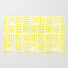 Weave Pattern - Yellow Rug