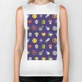 Video Game Universe Pattern Biker Tank
