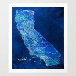 Us Map Artwork.Us Maps Art Prints Society6