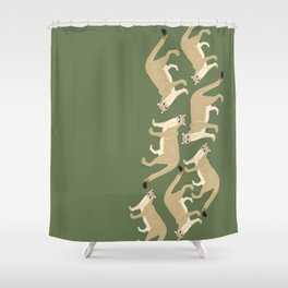 Carnivores of World: Cougar Pum(a) (c) 2017 Shower Curtain