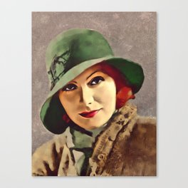 Greta Garbo, Hollywood Legend Canvas Print