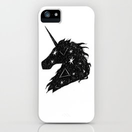 Black Unicorn iPhone Case