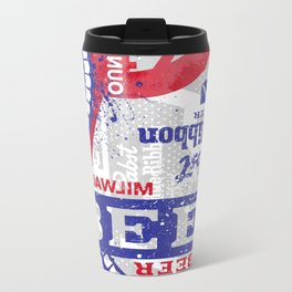 Beer Me: PBR Metal Travel Mug