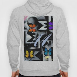 Monarch Butterfly Modern Abstract Painting Rainbow Art Hoody