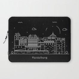 Heidelberg Minimal Nightscape / Skyline Drawing Laptop Sleeve