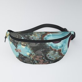 Shadow Blues Fractal Fanny Pack
