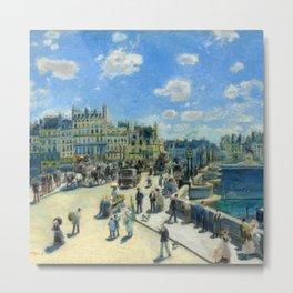 "Auguste Renoir ""Pont Neuf, Paris"" Metal Print"