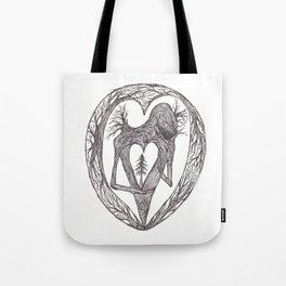 Sacred Pine Grove Of The Heart Tote Bag