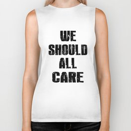 we should all care racing tattoo Biker Tank