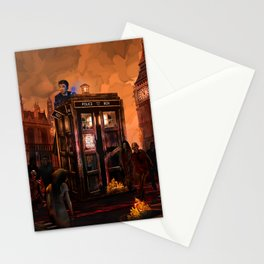 10th Doctor trapped in the zombie land Stationery Cards