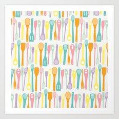 Candy Utensils Art Print