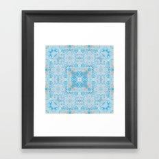 Boho Marble Mandala Framed Art Print