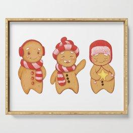 Gingerbread men trio Serving Tray