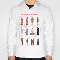 the royal tenenbaums Hoodies featuring The Royal Tenenbaums by Shanti Draws