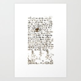Listener Lyrics Poster Art Print