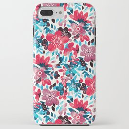 Happy Red Flower Collage iPhone Case