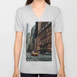 New York City Street Unisex V-Neck