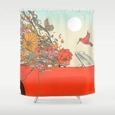 Passing Existence Shower Curtain