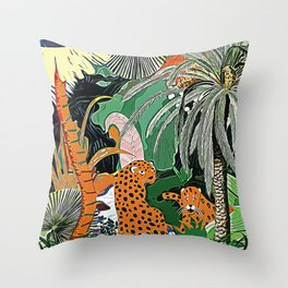 In the mighty jungle Throw Pillow