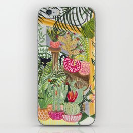 Black cat in the Garden iPhone Skin
