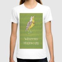 western T-shirts featuring Western Meadowlark by Santiago Uceda