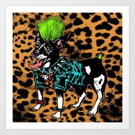 Punk Dog Art Print