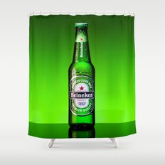 Ice cold Heineken Shower Curtain