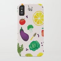 vegetables iPhone & iPod Cases featuring Delicious Vegetables by Viola Brun Designs