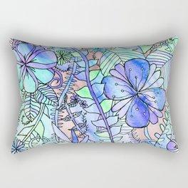 Blue, Mint & Purple Rectangular Pillow