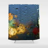 bokeh Shower Curtains featuring Bokeh by Blue Lightning Creative
