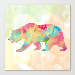 Abstract Bear Canvas Print