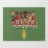 arsenal Canvas Prints featuring Arsenal Invincibles (squad) by 8bit Football
