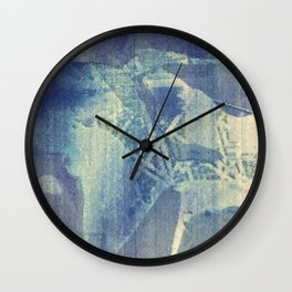 Abstraction in Blue Wall Clock