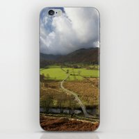 cassia beck iPhone & iPod Skins featuring Clouds over Beckstones Farm and Goldrill Beck. Patterdale, Lake District, UK by liamgrantfoto