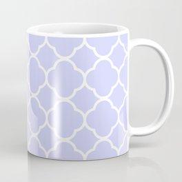 Periwinkle Blue Quatrefoil Coffee Mug