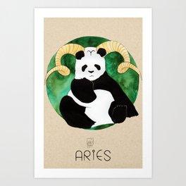 Panda Zodiac Aries Art Print