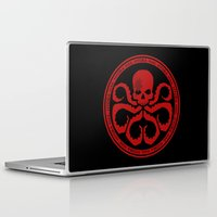 hydra Laptop & iPad Skins featuring Hail Hydra! by livinginamovie