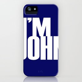 I'M JOHN (blue) iPhone Case
