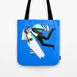 The Dreaming Bridegroom and Bride in Love Tote Bag
