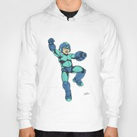mega man Hoodies featuring Mega Man by Ramon Villalobos