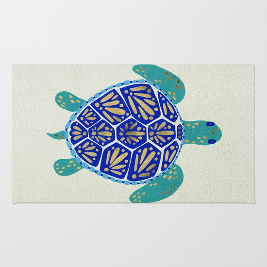 Sea Turtle Rug By Cat Coquillette