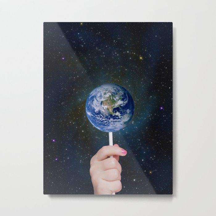 Candy Earth Metal Print