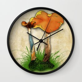 Psyilocybe Cyanescens Wall Clock