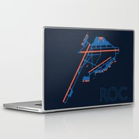 60s Laptop & iPad Skins featuring Rochester (ROC) - 60s by Kyle Rodgers