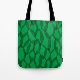 Overlapping Leaves - Dark Green Tote Bag