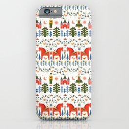 Scandinavian Fairtytale - Green + Red iPhone Case