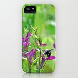 Bee Loves Lobelia iPhone Case